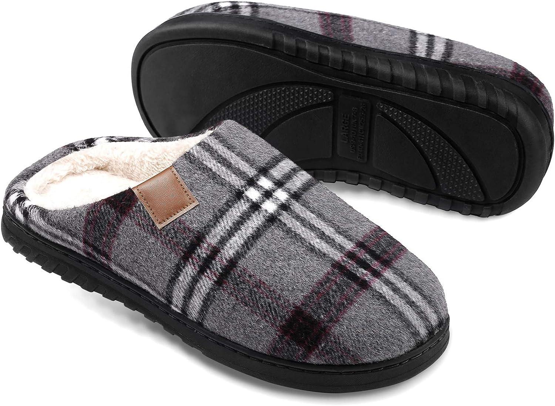 Slippers for Men Memory Tulsa Mall Foam Indoor Mens House Outdoor trend rank