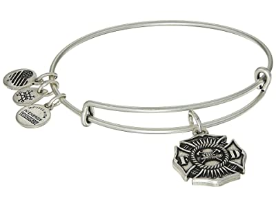 Alex and Ani Firefighter Bangle (Rafaelian Silver) Bracelet