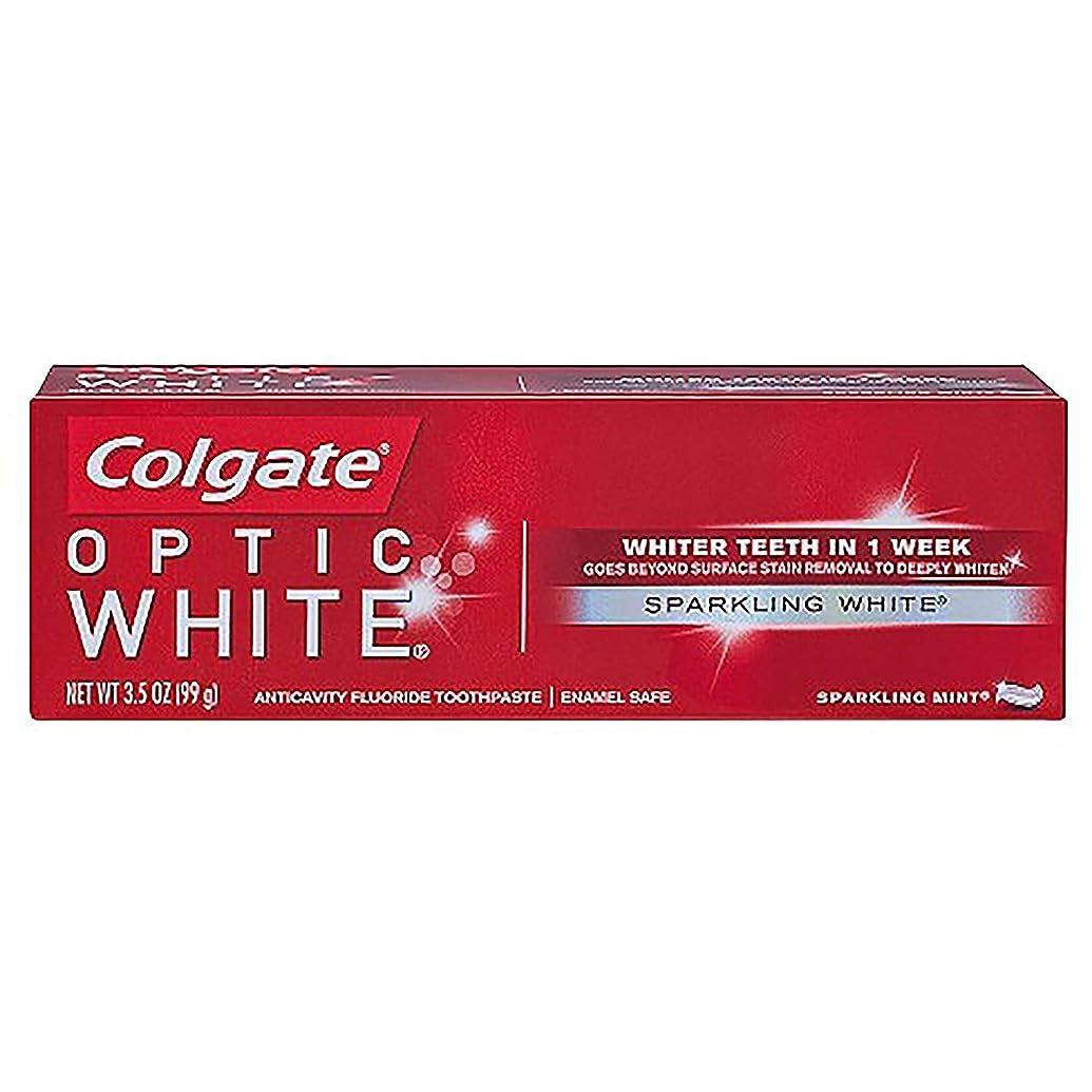 無能主人工業化するコルゲート ホワイトニング Colgate Optic White Sparkling White 99g 白い歯 歯磨き粉 ミント
