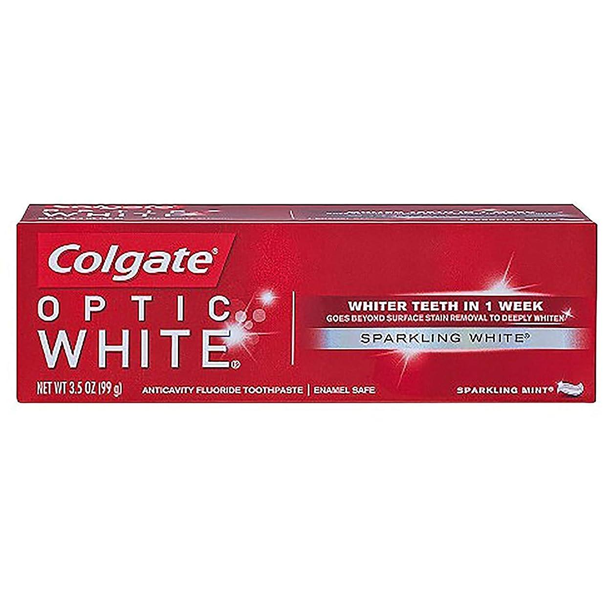 トライアスロンシーケンス各コルゲート ホワイトニング Colgate Optic White Sparkling White 99g 白い歯 歯磨き粉 ミント