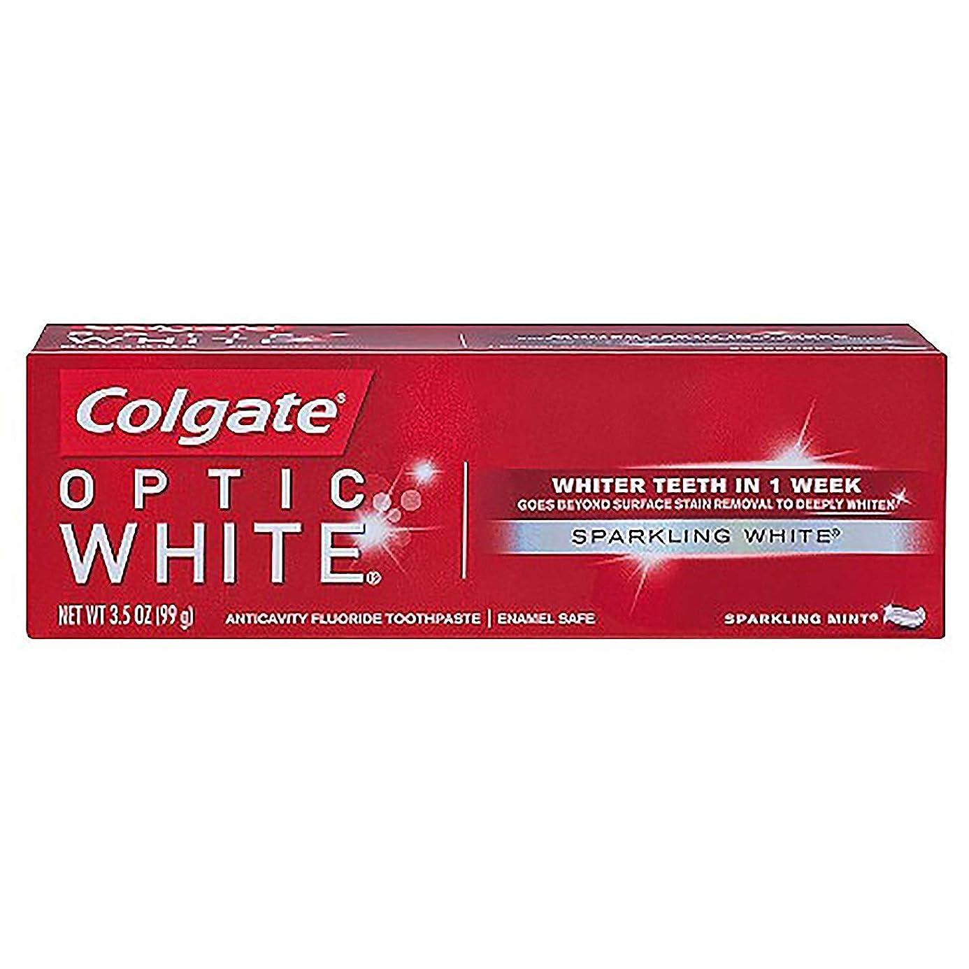 失うブレーキウガンダコルゲート ホワイトニング Colgate Optic White Sparkling White 99g 白い歯 歯磨き粉 ミント