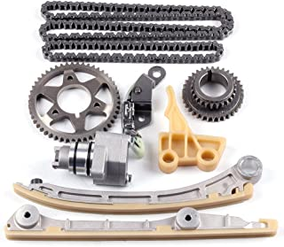 Engine Timing Part Chains Set Timing Chain Kits, SCITOO fits for Honda S2000 2.0 2.2L L4 2000-2009 Replacement Timing Tools with Oil Pump Drive Set F20C F22C1