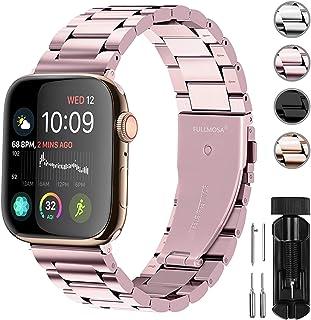 Fullmosa Acero Inoxidable Correa Compatible Apple Watch/iWatch Serie SE, Serie 6, Serie 5, Serie 4, Serie 3, Serie 2, Seri...