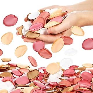 500 Pieces Silk Rose Petals Artificial Flowers Petals Fake Scatter Petals Decorations for Girl Wedding Table Centerpieces ...