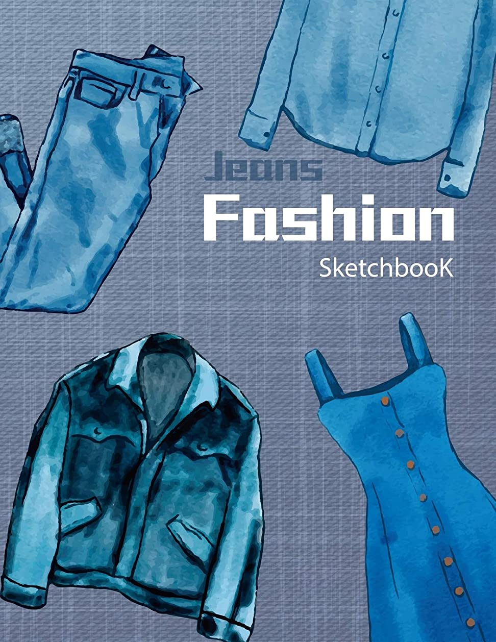 事故爆風人間Fashion Sketchbook | Jeans: 16 Figure sketch different posed template will easily create your fashion styles (Fashion Designer Sketchbook)