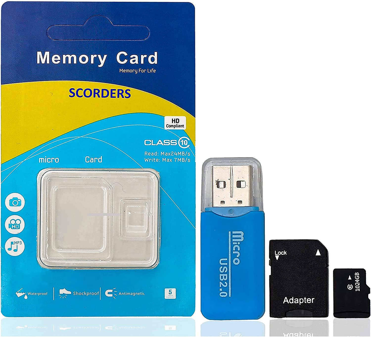 sd Card 1 Tb | USB Adapter | sd Card Adapter | Pack of 3 | 10MB/s Transfer Rate | Plug and Play | All OS Compatible | Reliable and Stable Products | Large Storage Capacity