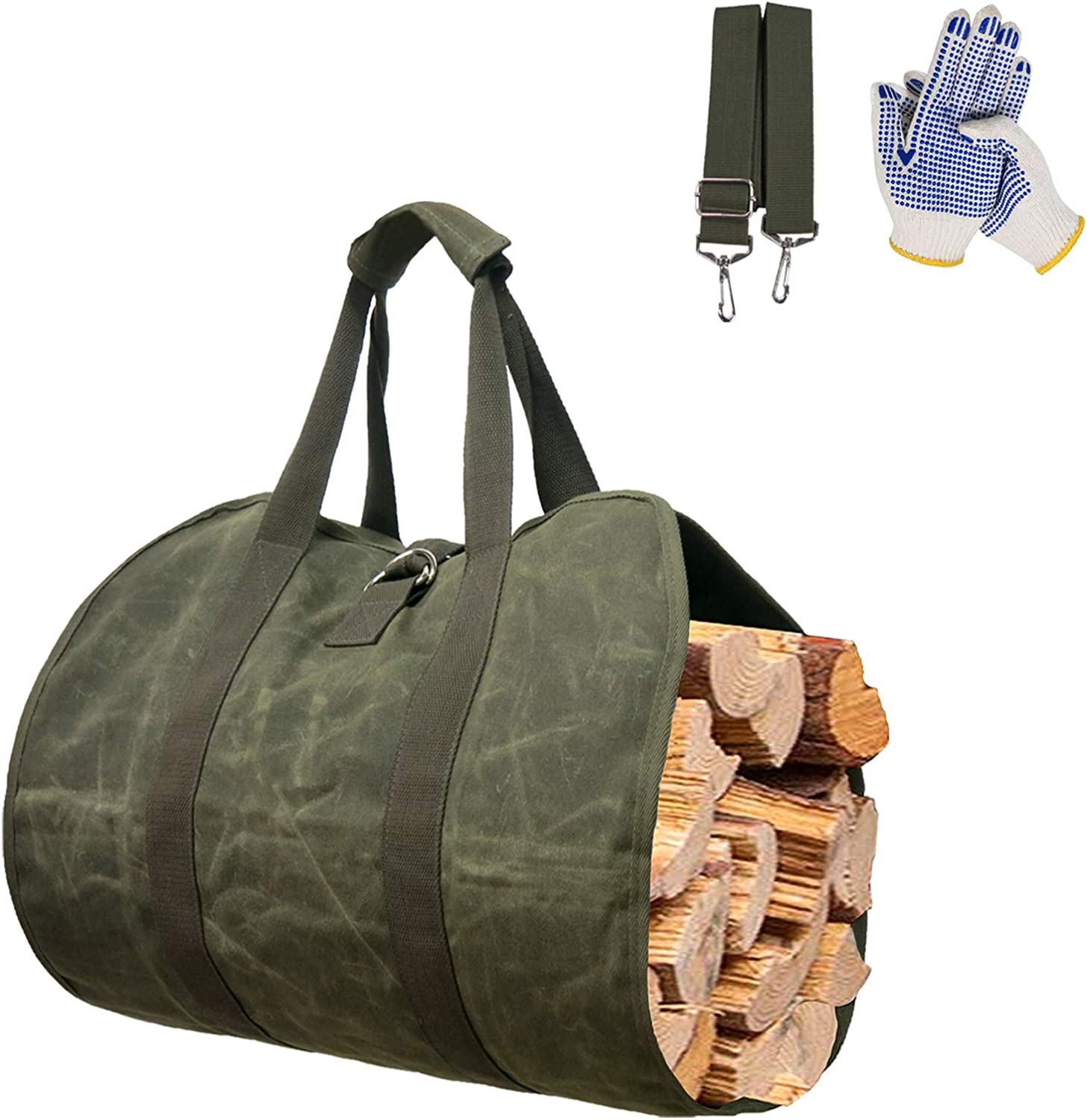 National All items in the store products Fireplace Carrier Waxed Canvas Log Outdoor Bag Tote