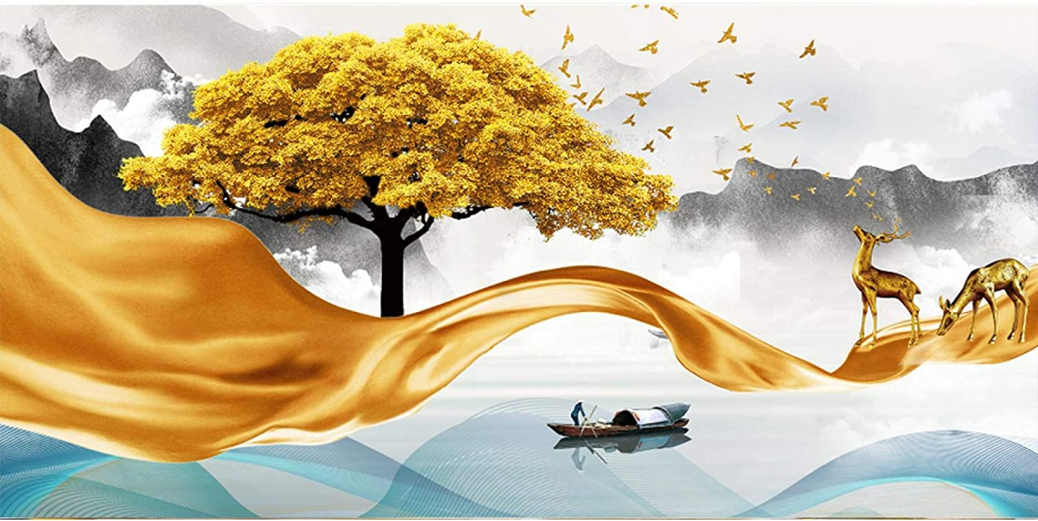 Sunsightly Print on Canvas Modern Art Golden Landscape Abstract Ranking TOP4 Brand Cheap Sale Venue