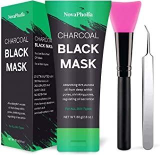Best Novapholia Charcoal Peel Off Face Mask for Blackheads and Pores Black Mask With Blackhead Extractor and Brush – Deep Cleansing Facial Mask – Blackhead Remover and Oil Control Mask 80ml Review