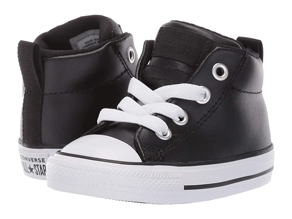 Converse Kids Chuck Taylor All Star Street Mid (Infant/Toddler) (Black/Black/White) Boys Shoes