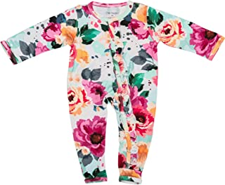 Posh Peanut One Piece Elegant Baby Romper Silky Soft & Breathable - Premium Knit Baby Girl Clothes - Viscose from Bamboo