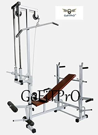 GoFiTPrO Multipurpose Home Gym 20 in 1 Bench (Powder Coated Silver Colour)