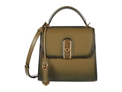 Salvatore Ferragamo Shaded Boxyz Top-Handle Bag (Khaki Green) Handbags