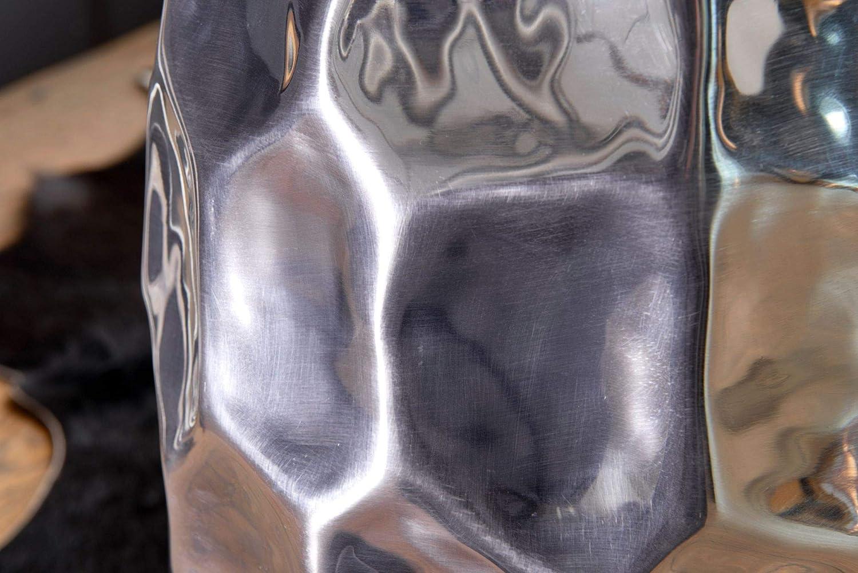 Dise/ñador Estante Mesa Metal Modern Wohnling Mesa Auxiliar Jada 30/x 47/x 30/cm Aluminio Oro Mesa Decorativa Coj/ín Redondo Mesa Martillado Almac/én peque/ña anstell Mesa Estrecho 35/x 35/x 51/cm