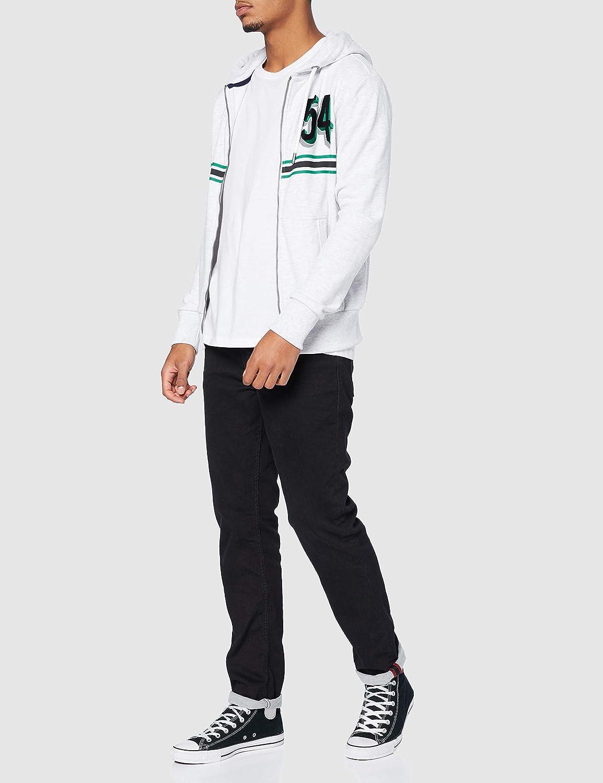 Superdry JPN Shadow Ziphood Sweat-Shirt Homme Blanc (Ice Marl 54g)