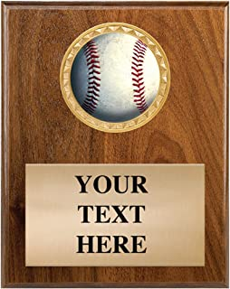 Baseball Awards - 4.5 x 6.5 Baseball Trophy Plaque with Personalized Engraving Prime