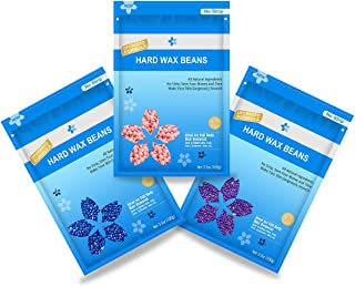 10 Oz Hard Wax Beans Hair Removal Kit, Beautypure Hard Wax Kit Delilatory Wax Beads, Painless Hair Removal Wax Beans for Facial , Brazilian Bikini, Underarms, Back and Chest, Legs with 10 Wax Spatulas