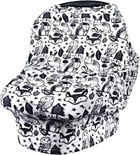 VIVOTE Nursing Cover for Breastfeeding Carseat Canopy Infant Car Seat Cover Nursing Scarf Multi Use Baby Seat Cover for Shopping Cart, High Chair, Stroller, Stretchy, Breathable, Lightweight