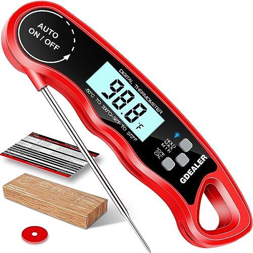 Acero inoxidable Stand Up Dial Horno Term/ómetro Grill Fry Chef Fumador Term/ómetro Lectura instant/ánea Gran calibre Suministros para hornear de cocina para uso en cocina