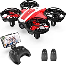 Holy Stone HS210Pro Drone with Camera, Small, For Indoor Use, 2 Batteries, Less Than 7.1 oz (200 g), For Beginners, Real Time, Altitude Hold, 2.4 GHz, 4CH Multicopter, Tumbling, Modes 1/2 Freely Converted, Domestic Certified, Red