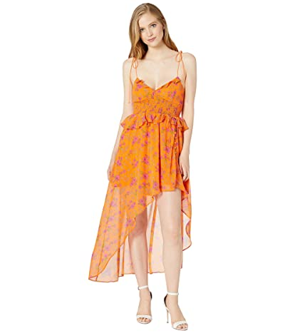 For Love and Lemons Peony High-Low Dress (Tangerine) Women