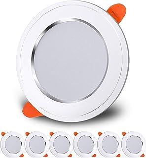 LED Spot Encastré 7W Extra Plat Plafonnier Encastré Equivalent 70W Blanc Froid 6000K AC180-265 Plafonnier Rond pour Salon,...