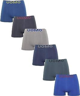 Channo Pack de 4 - Calzoncillos Boxer de Hombre, Lycra sin Costuras Liso y con Color Uniforme