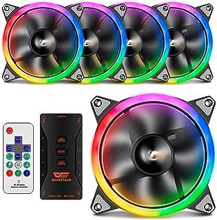 darkFlash 120mm RGB LED Case Fan for PC Cases CPU Cooling Fan Water Cooling Fan Addressable RGB Case Fan RGB FAN