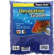 Aquarium Decorative Gravel Deep Blue 7mm 2kg Fish Tank 10283BL Aqua One Pebbles