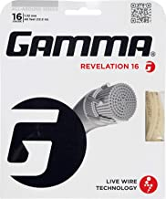 Gamma Revelation 16G Tennis String, Natural