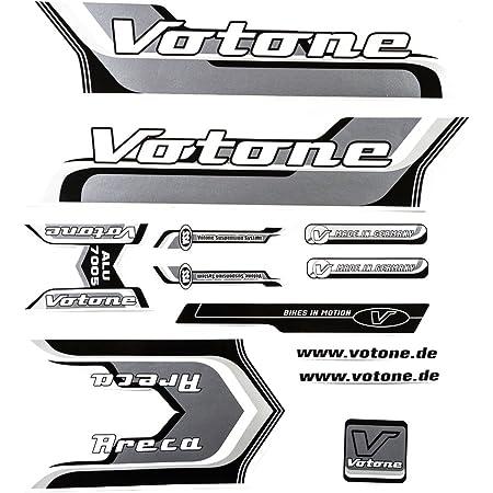 Fahrrad Dekor Satz Aufkleber Rahmen Frame Decal Sticker Votone Label Grau Sport Freizeit