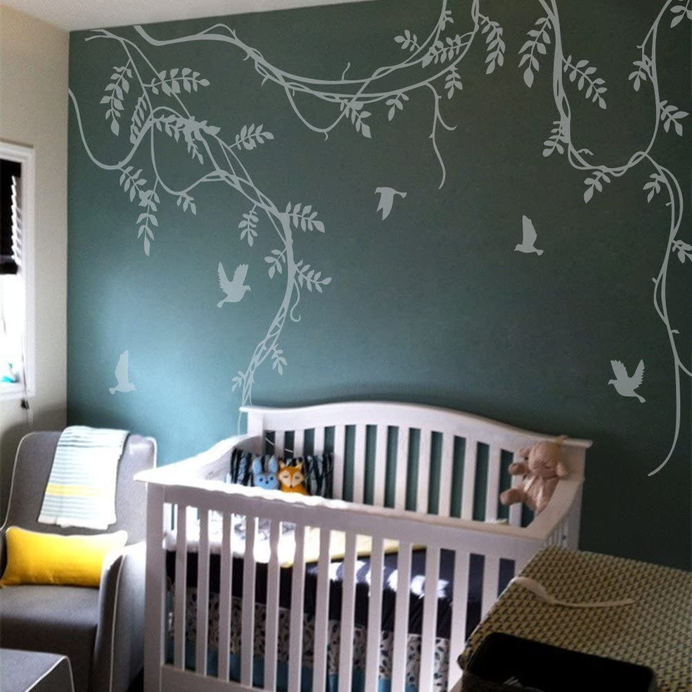 MairGwall Tree Vine Wall Sticker Excellent for Decal Birds N Arlington Mall and