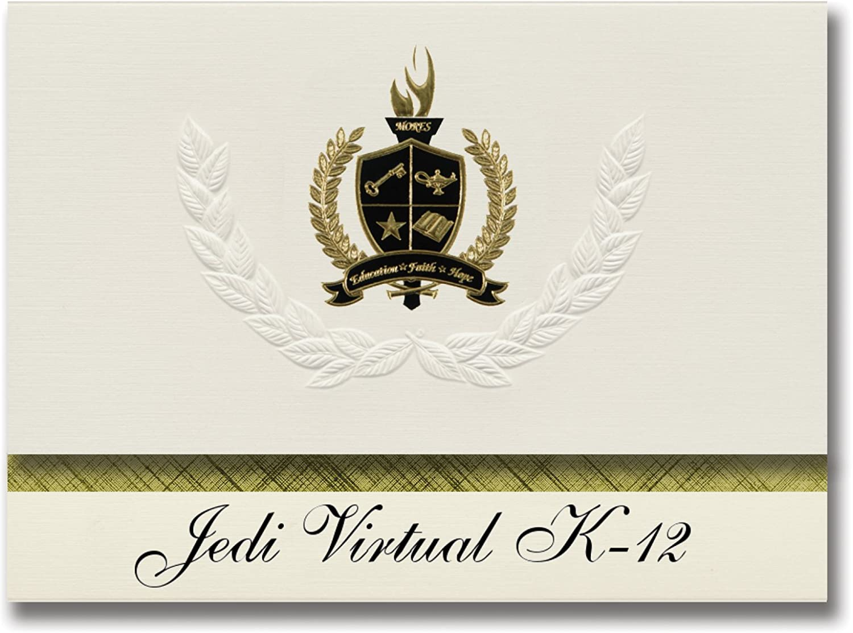 Signature Signature Signature Ankündigungen Jedi Virtual Glasfigur (Weißwater, Wi) Graduation Ankündigungen, Presidential Stil, Elite Paket 25 Stück mit Gold & Schwarz Metallic Folie Dichtung B078TT2Y6P | Zart  885d9a
