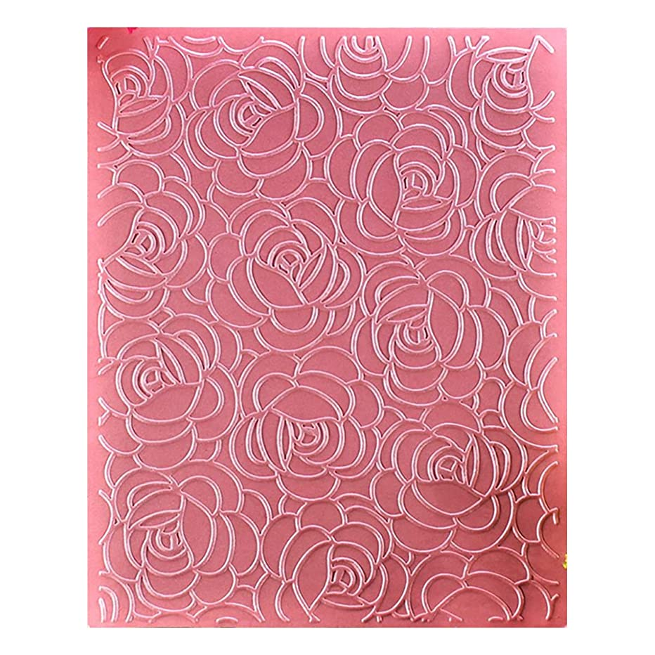 Kwan Crafts Flowers Plastic Embossing Folders for Card Making Scrapbooking and Other Paper Crafts, 12.1x15.2cm
