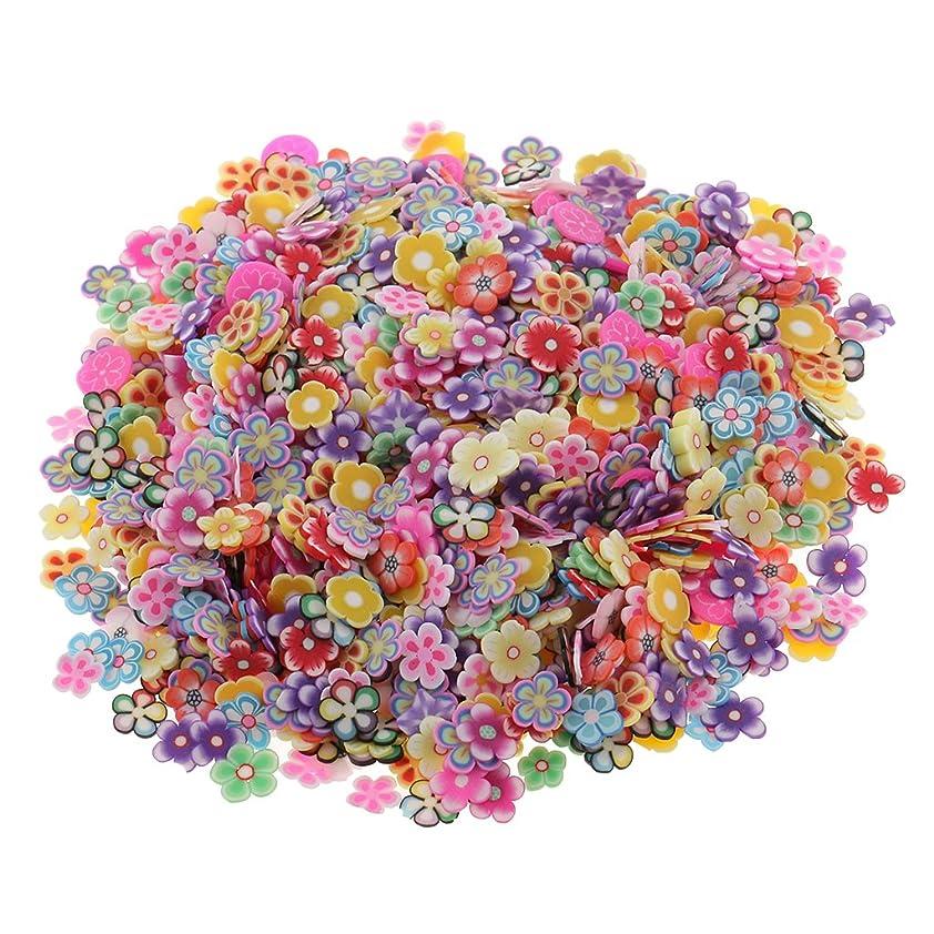 またはどちらか庭園飢饉Baosity 約1000個入り ネイルアート 3D花 ポリマー粘土製 ステッカー ネイル用ツール ステッカー 手作り