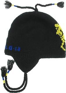قبعة Polo Ralph Lauren للرجال Lambs Fleece Signature Trapper سوداء O/S