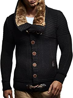 Men's Knitted Cardigan   Long-sleeved slim fit hoodie   Stylish button up cardigan with shawl collar for Men