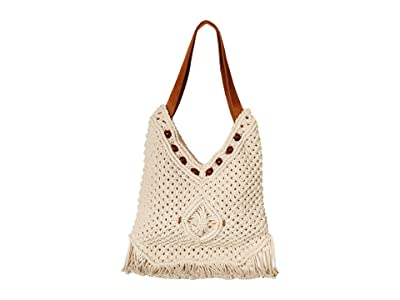 San Diego Hat Company BSB1753 Macrame Hobo (Ivory) Handbags