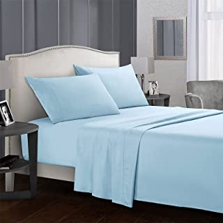 4-piece Bed Linen Set, Anti-wrinkle, Anti-fading and Anti-fouling, Hypoallergenic, Including Sheets, Flat Sheets and 2 Pil...