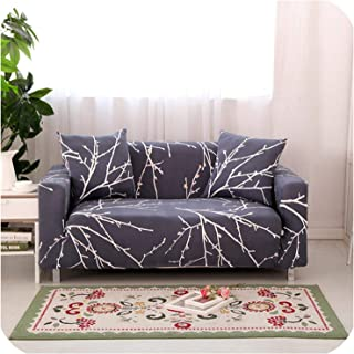 Joyfeel-light Spandex Elastic Universal Sofa Cover 2 and 3 Seat Slipcover Geometric Protector Stretch Loveseat Armchair Couch Case Living Room,16,Single-Seater