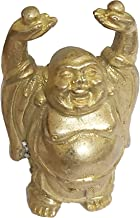 PARIJAT HANDICRAFT Vintage Laughing Buddha Statue in Solid Brass Metal for Wisdom and Wealth Use as Home Decor Showpiece f...