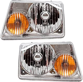Driver and Passenger Headlights Headlamps Replacement for 2001-2011 Ranger Pickup Truck 6L5Z13008BA 6L5Z13008AA