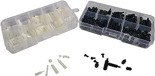 NALAKUVARA 300pcs M2 M3 Nylon Hex Nuts Spacers Screws Stand-Off Plastic Accessories Assortment Kit (Black+White) Come with Plastic Box