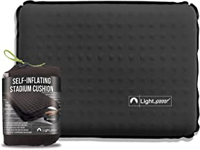 Lightspeed Outdoors Self-Inflating Insulated Stadium Seat Cushion with an Integrated Carry Bag