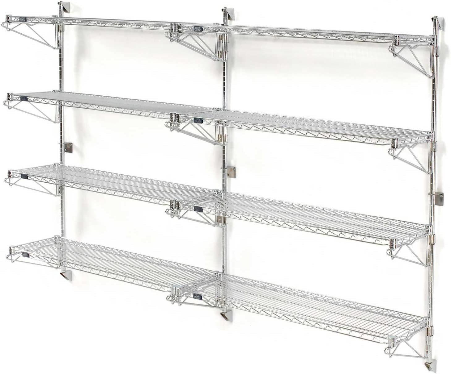 Nexel Wall Mount Wire 4-Shelf Add-On Challenge the lowest price Max 44% OFF 63