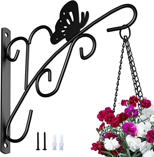 Amagabeli Hanging Plants Bracket 11'' Wall Planter Hook Flower Pot Bird Feeder Wind Chime Lanterns Hanger Patio Lawn ...