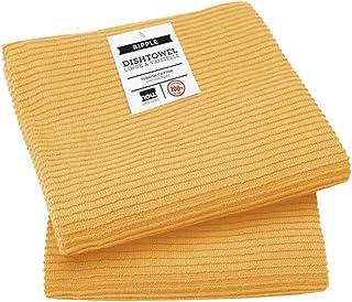 Now Designs Ripple Kitchen Towel, Set of 2, Honey