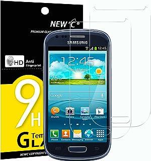 NEW'C 2-pack skärmskydd med Samsung Galaxy S3 Mini – Härdat glas HD klar 9H hårdhet bubbelfritt