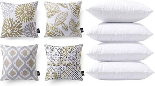 discount Phantoscope Bundles, Set of 4 New Living Series Coffee outlet online sale Pillow Covers 18 x 18 inches & Set online of 4 Pillow Inserts 20 x 20 inches outlet sale