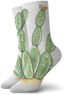 BEDKKJY, Calcetines Crew Prickly Pear Cactus Vintage Bota Corta para Mujer Stocking Party Calcetín para niños
